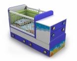 Детская кроватка-трансформер Briz