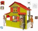 Домик двухэтажный с кухней и звонком, размер 196х95х204 см, Smoby, 320021