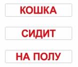 """Набор карточек Вундеркинд с пеленок """"Чтение по Доману"""" 120 слов русск.язык"""
