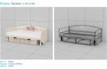 Кровать Эдисан из серии Лондон L-01