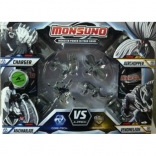 Набор для битвы на 4 игрока Monsuno Core-Tech - STORM CHARGER (4 фигурки, 4 капсулы, 4 карты)
