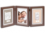 Слепок ручки и ножки Baby Art Double Print Frame brown & taupe/beige