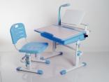 Комплект мебели Mealux (стол+стул) BD-02 B с лампой и полкой, цвет голубой, BD-02B