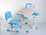 Комплект мебели Mealux BD-03 B с лампой, цвет голубой, столешня клен