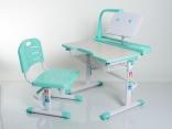 Комплект мебели Mealux BD-03 G цвет зеленый, столешница клен с лампой