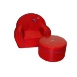 Детское мягкое кресло и пуф Tako, в ассорт.