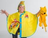 Детский дождевик-пончо Винни Пух 808, размеры в ассорт.