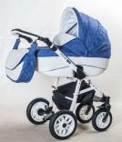 Универсальная коляска Adamex Jetto кожа, в ассорт.