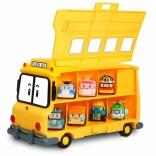 Кейс-гараж Школьный автобус Скулби Robocar Poli Silverlit 83148