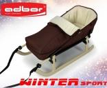 Комплект: Складные санки Adbor Winter Sport со спинкой-конвертом, цвета в ассорт.