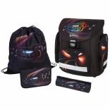 Школьный ранец с наполнением Herlitz Midi Plus Red Nightliner
