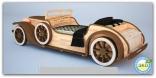 Кровать-машина Абсолют«Ретро», деревянная