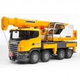 Игрушка - автокран Bruder Scania - Liebherr большой (свет+звук), М1:16, 03570