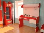 Компьютерный стол в детскую комнату Форсаж Embawood (Red, Grey)
