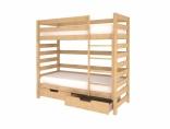 Двухярусная кровать Woodman с 2мя ящиками, натуральный