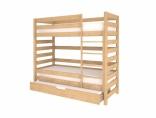 Двухярусная кровать Woodman с выдвижной кроватью, цвета в ассорт.