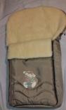 Спальный мешок-конверт на овчине Womar №40 (zaffiro) 95х50 см крашеный мех, в ассорт.