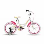 Велосипед 18'' PRIDE AMELIA бело-розовый глянцевый 2016, SKD-18-85
