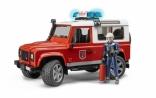 Игрушка-джип Bruder Пожарный Land Rover Defender + фигурка пожарника, М1:16, 02596