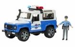 Джип Bruder Полиция Land Rover Defender и фигурка полицейского, М1:16, 02595