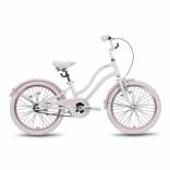 Велосипед 20'' PRIDE ANGEL бело-розовый глянцевый 2016, SKD-93-81