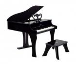 Черное фортепиано со стульчиком Hape, E0320