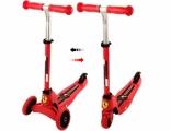 Самокат-трансформер Ferrari (из 3х колесного в 2ух колесный), алюминий, красный, FXK35/R