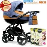 Универсальная коляска Kinder Rich Blaze Denim, цвета в ассорт.
