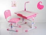 Стол и стул Mealux BD-02P (с лампой без полки) розовый, BD-02P
