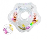 Круг для купания KinderenOK с погремушкой, цвета в ассорт.