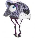 Шлем Пурпурный Леопард Crazy Safety с фонариком, 110298-20