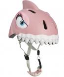 Шлем Розовая Акула Crazy Safety с фонариком, 110296-20