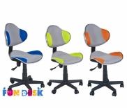 Детское компьютерное кресло Fundesk LST3 Blue-Grey, Orang-Grey, Green-Grey, Green, Grey, цвета в ассорт.