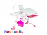 Парта трансформер для школьника для дома FunDesk Amare with drawer Pink, Blue, Grey, цвета в ассорт.