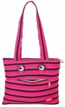 Сумка Zipit MONSTERS Tote/Beach, цвет Pink Begonia&Black; Teeth (розовый), ZBZM-2