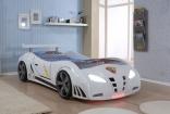 Кровать-машина Форсаж Embawood, белый