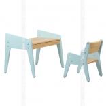 Детский стол и стульчик Fundesk Omino Blue, Green, цвета в ассорт.