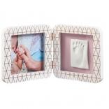 Двойная рамка медно/белая Baby Art (Бэби Арт), 3601092400