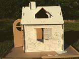 Картонный домик-раскраска для игр и рисования, КД01