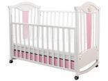 Кроватка-качалка Mybaby Rose Dreams ваниль/розовый/беж