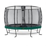 Батут с сеткой EXIT Elegant Premium 366 (12ft) + Safetynet Deluxe(Green), 08.20.12.20