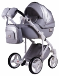 Детская коляска 2 в 1 Adamex Luciano кожа 100%, цвета в ассорт.