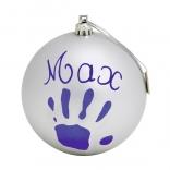 Рождественский шар для создания отпечатков Baby Art 11 см Серебристый, 34120155