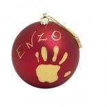 Рождественский шар для создания отпечатков Baby Art 11 см Красный, 34120153