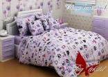 Комплект постельного белья Tag Совята сиреневый 150х220