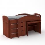 Кровать со встроенным столом Универсал  Компанит, цвета в ассорт.
