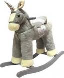 Игрушечный конь - единорог Rock my baby, цв.серый с музыкой, JR6014