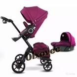 Детская коляска 2 в 1 Dsland Xplory V8 Purple/ black (фиолетовый)