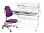 Комплект мебели Парта Martin Evo-430 с полкой и кресло Omega Y-220, цвета в ассорт.