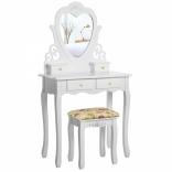 Столик косметический Bonro B006W белый